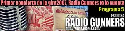 5º PROGRAMA RADIO GUNNERS